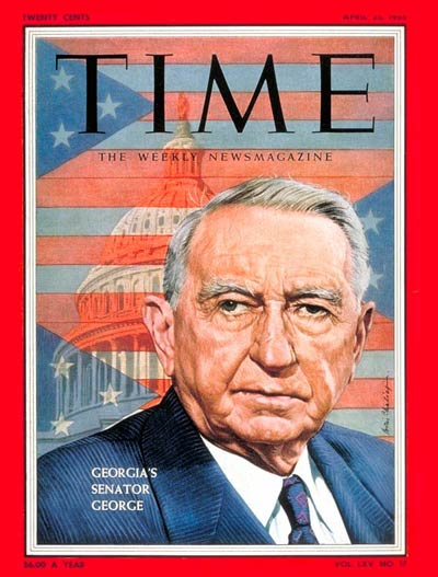 TIME Magazine Cover: Sen. Walter George -- Apr. 25, 1955