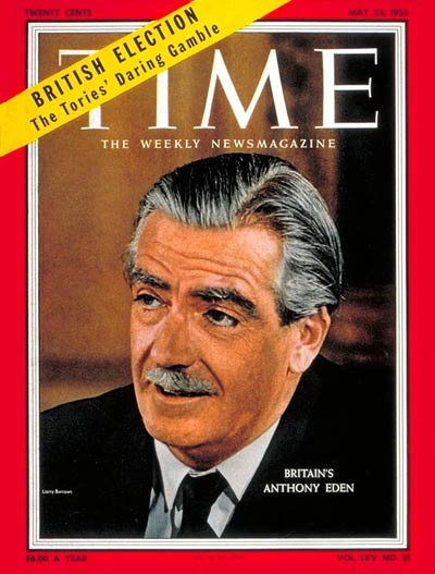 TIME Magazine Cover: Anthony Eden -- May 23, 1955