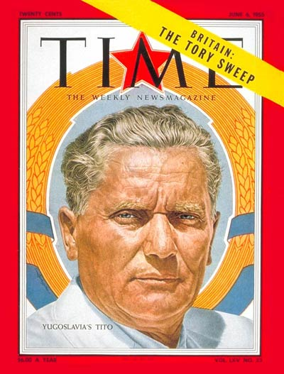 Tito on the front cover of Times Magazine, 1955