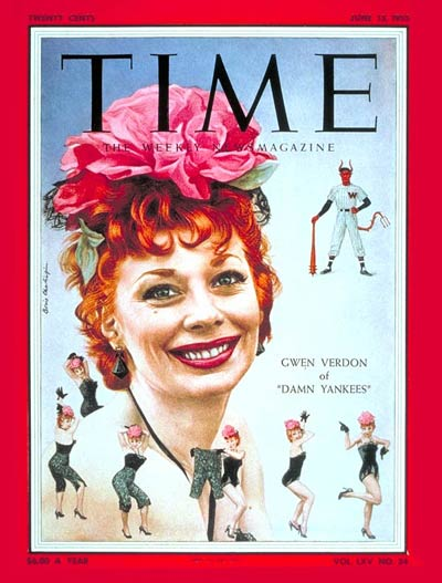 TIME Magazine Cover: Gwen Verdon -- June 13, 1955