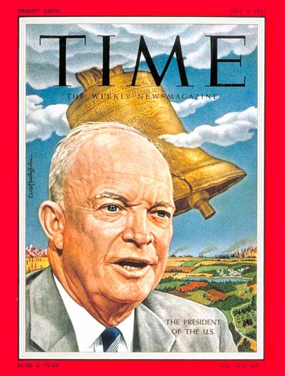 TIME Magazine Cover: Dwight D. Eisenhower -- July 4, 1955