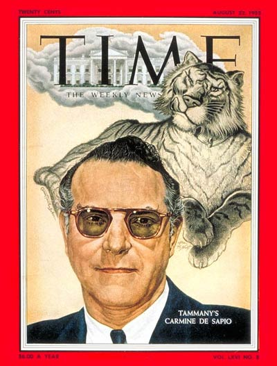 TIME Magazine Cover: Carmine De Sapio -- Aug. 22, 1955