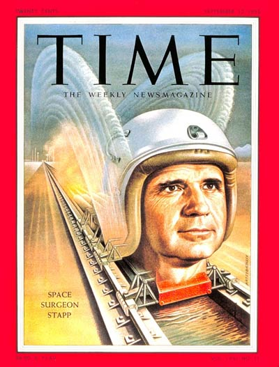 TIME Magazine Cover: Lt. Colonel Paul Stapp -- Sep. 12, 1955