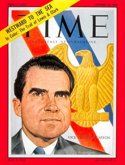 TIME Magazine Cover: Richard Nixon -- Oct. 10, 1955