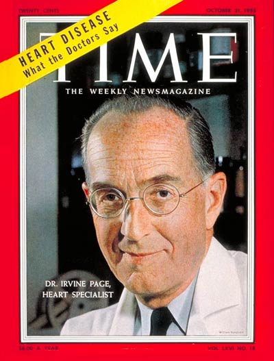 TIME Magazine Cover: Dr. Irvine H. Page -- Oct. 31, 1955