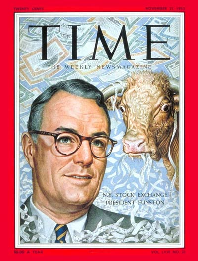 TIME Magazine Cover: Keith Funston -- Nov. 21, 1955