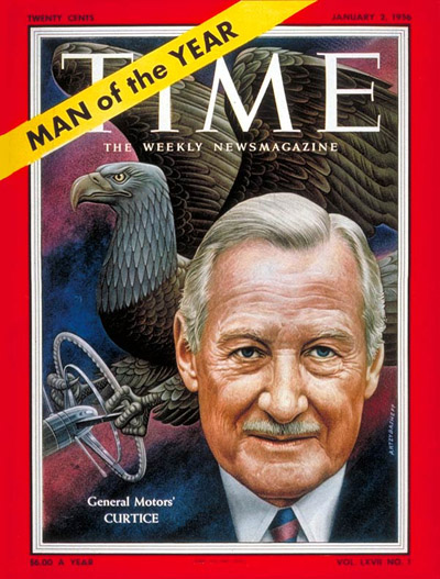 TIME Magazine Cover: Harlow Curtice, Man  the Year -- Jan. 2, 1956