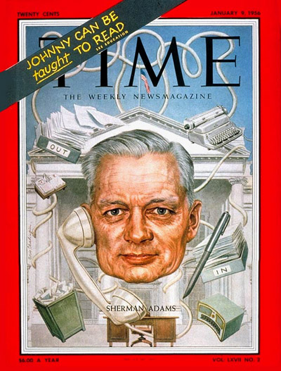 TIME Magazine Cover: Sherman Adams -- Jan. 9, 1956