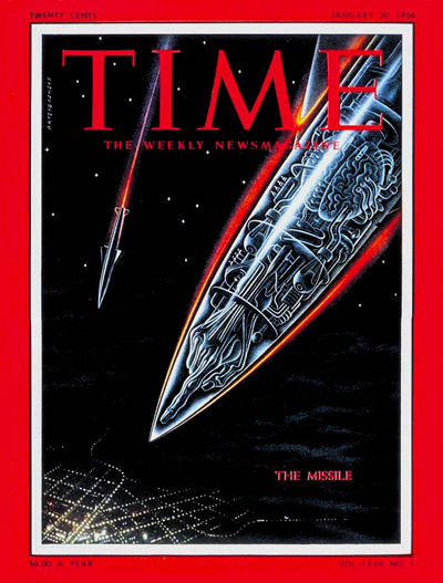 TIME Magazine Cover: The Missile -- Jan. 30, 1956
