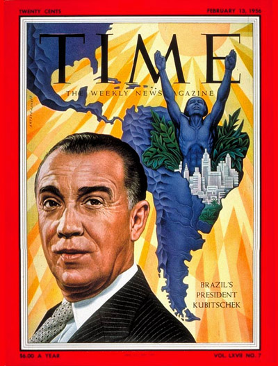 TIME Magazine Cover: Juscelino Kubitschek -- Feb. 13, 1956