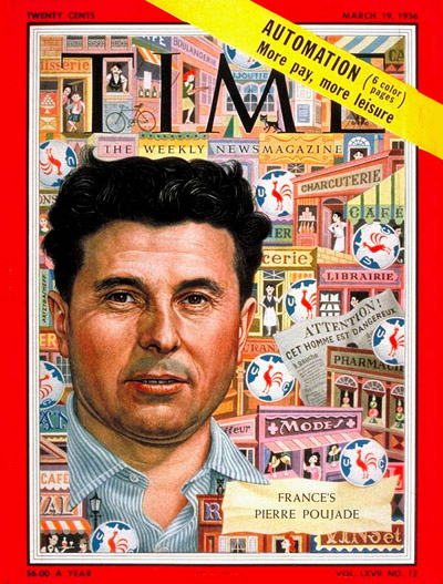 TIME Magazine Cover: Pierre Poujade -- Mar. 19, 1956
