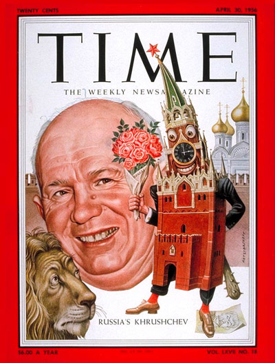TIME Magazine Cover: Nikita Khrushchev -- Apr. 30, 1956