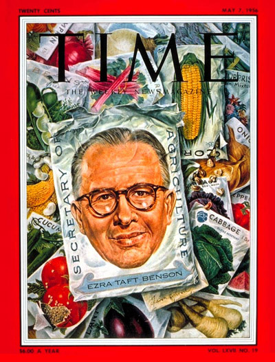 TIME Magazine Cover: Ezra Benson -- May 7, 1956