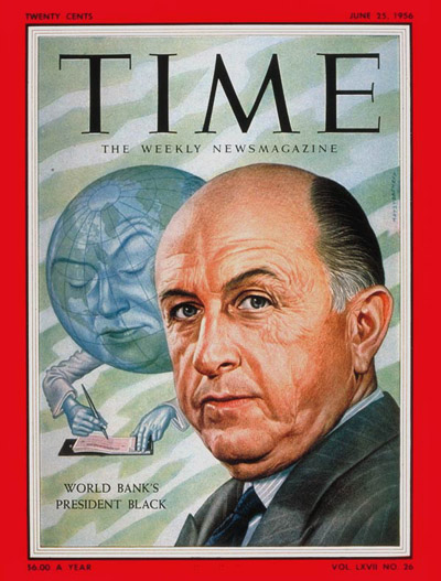 TIME Magazine Cover: Eugene Black -- June 25, 1956
