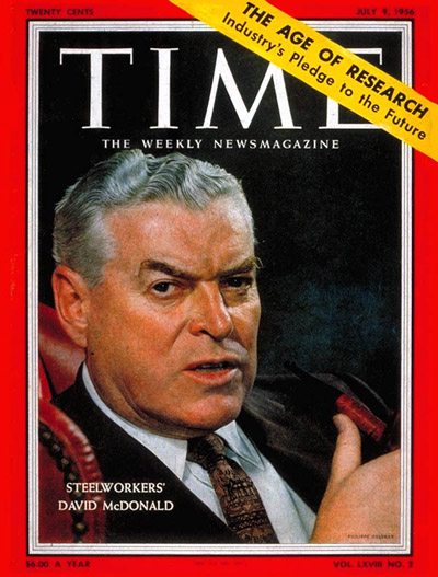 TIME Magazine Cover: David McDonald -- July 9, 1956