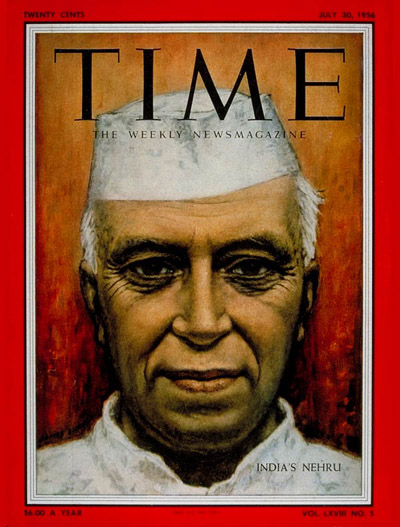 TIME Magazine Cover: Jawaharlal Nehru -- July 30, 1956