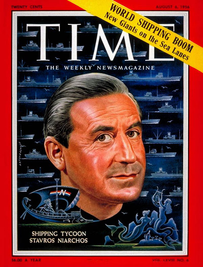 TIME Magazine Cover: Stavros Niarchos -- Aug. 6, 1956