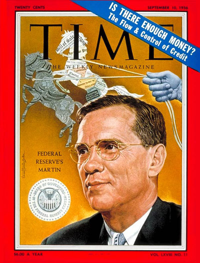 TIME Magazine Cover: Wm. McChesney Martin -- Sep. 10, 1956