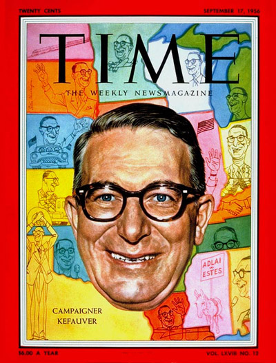 TIME Magazine Cover: Estes Kefauver -- Sep. 17, 1956