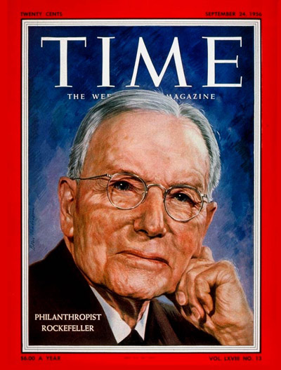 TIME Magazine Cover: John Rockefeller Jr. -- Sep. 24, 1956