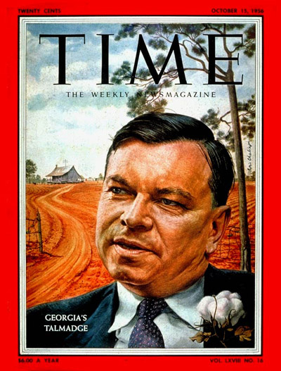 TIME Magazine Cover: Herman Tamadge -- Oct. 15, 1956