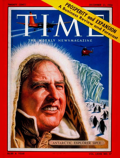 TIME Magazine Cover: Paul A. Siple -- Dec. 31, 1956
