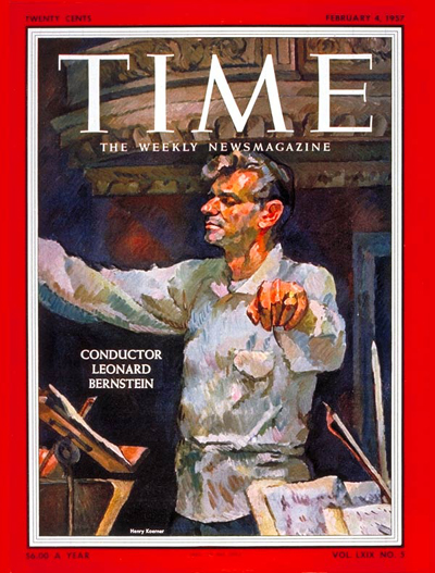 TIME Magazine Cover: Leonard Bernstein -- Feb. 4, 1957