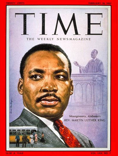 TIME Magazine Cover: Martin Luther King -- Feb. 18, 1957