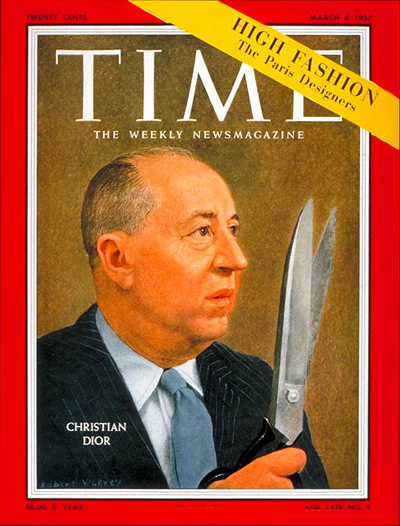 TIME Magazine Cover: Christian Dior -- Mar. 4, 1957