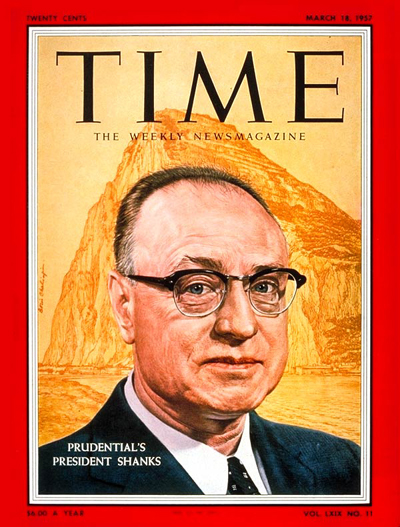 TIME Magazine Cover: Carrol M. Shanks -- Mar. 18, 1957