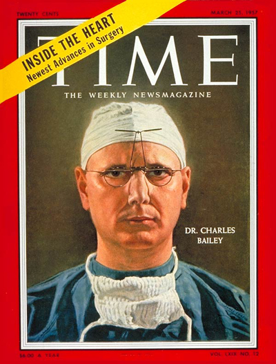 TIME Magazine Cover: Dr. Charles Bailey -- Mar. 25, 1957