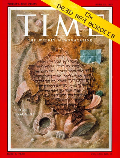 TIME Magazine Cover: The Dead Sea Scrolls -- Apr. 15, 1957