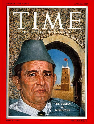 TIME Magazine Cover: Sultan Mohammed V -- Apr. 22, 1957