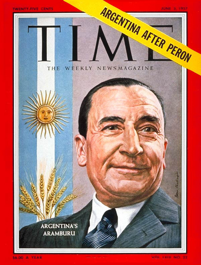 TIME Magazine Cover: Pedro Aramburu -- June 3, 1957