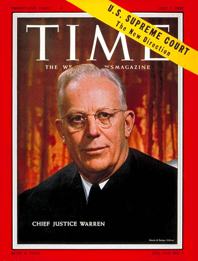 TIME Magazine Cover: Earl Warren -- July 1, 1957