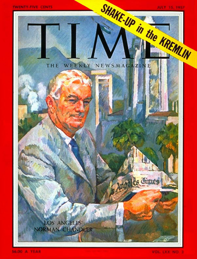 TIME Magazine Cover: Norman Chandler -- July 15, 1957