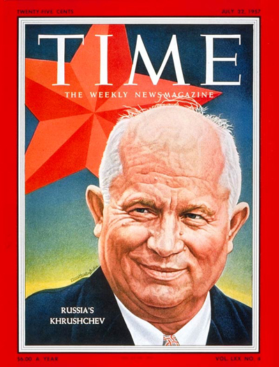 TIME Magazine Cover: Nikita Khrushchev -- July 22, 1957