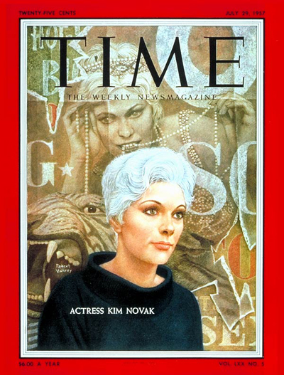 TIME Magazine Cover: Kim Novak -- July 29, 1957