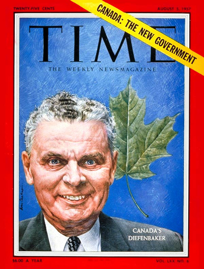 TIME Magazine Cover: John Diefenbaker -- Aug. 5, 1957