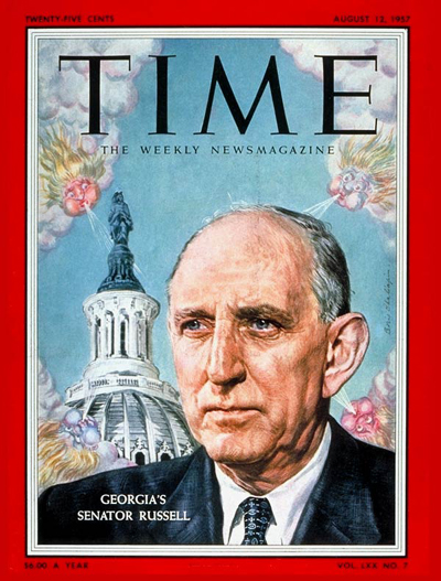 TIME Magazine Cover: Sen. Richard Russell -- Aug. 12, 1957