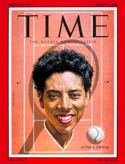TIME Magazine Cover: Althea Gibson -- Aug. 26, 1957
