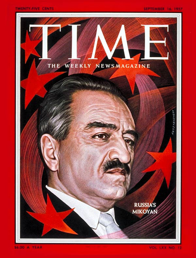 TIME Magazine Cover: Anastas Mikoyan -- Sep. 16, 1957