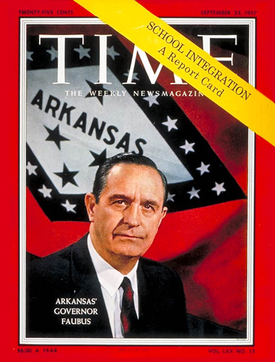 TIME Magazine Cover: Gov. Orval Faubus -- Sep. 23, 1957