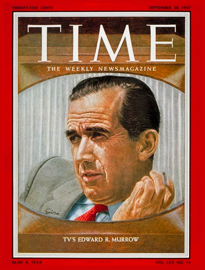 TIME Magazine Cover: Edward R. Murrow -- Sep. 30, 1957