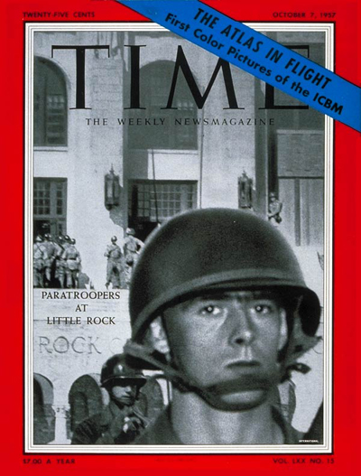 TIME Magazine Cover: Little Rock Integration -- Oct. 7, 1957