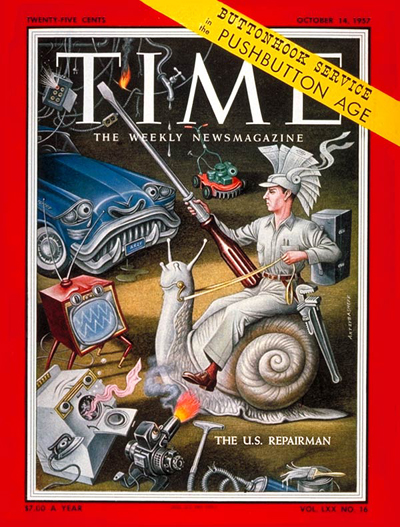 TIME Magazine Cover: The U.S. Repairman -- Oct. 14, 1957
