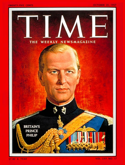 TIME Magazine Cover: Prince Philip -- Oct. 21, 1957