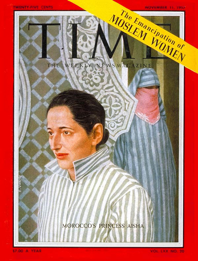TIME Magazine Cover: Princess Lalla Aisha -- Nov. 11, 1957