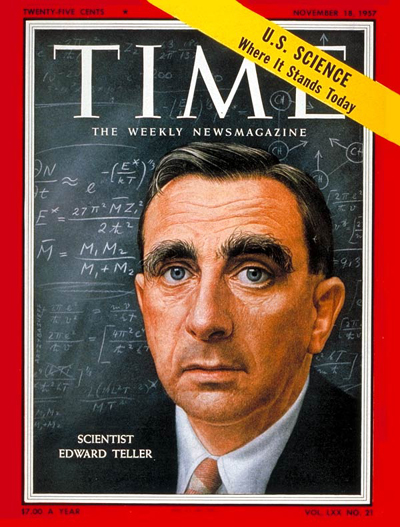TIME Magazine Cover: Edward Teller -- Nov. 18, 1957