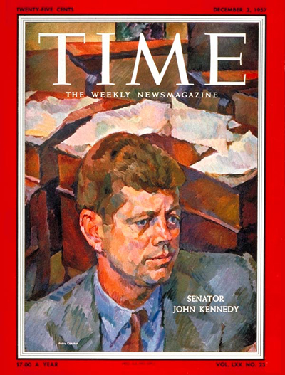 TIME Magazine Cover: Sen. John F. Kennedy -- Dec. 2, 1957